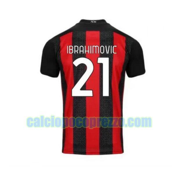 maglia ac milan 2020-2021 prima ibrahimovic 21